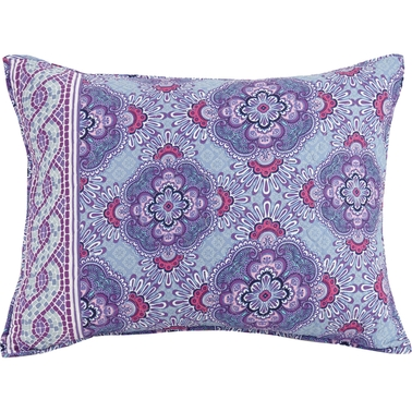 Vera Bradley Purple Passion Quilted Pillow Sham