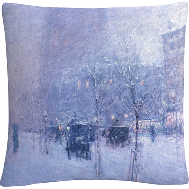 Trademark Childe Hassam Late Afternoon New York Winter Decorative Throw Pillow