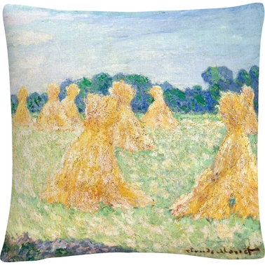 Trademark Fine Art Claude Monet The Young Ladies Of Giverny Decorative Throw Pillow