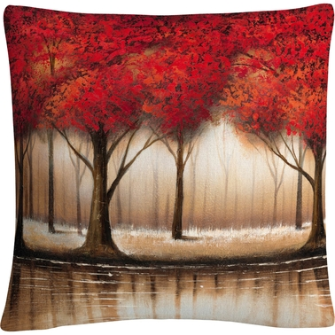 Trademark Fine Art Rio Parade Of Red Trees Decorative Throw Pillow