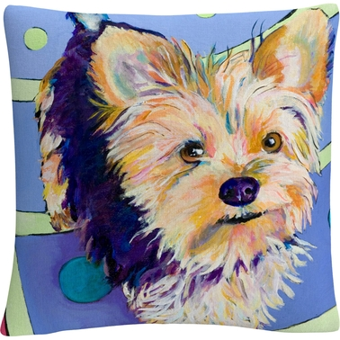 Trademark Fine Art Pat Saunders White Claire Decorative Throw Pillow
