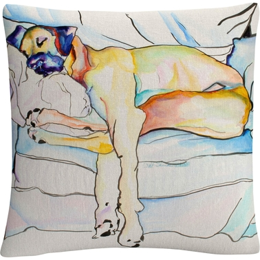 Trademark Fine Art Pat Saunders White Sleeping Beauty Decorative Throw Pillow