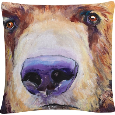 Trademark Fine Art Pat Saunders White The Sniffer Decorative Throw Pillow
