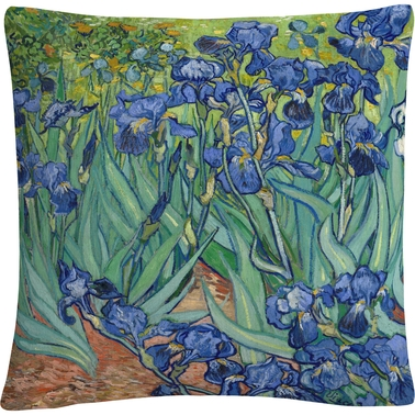 Trademark Fine Art Vincent van Gogh Irises Decorative Throw Pillow