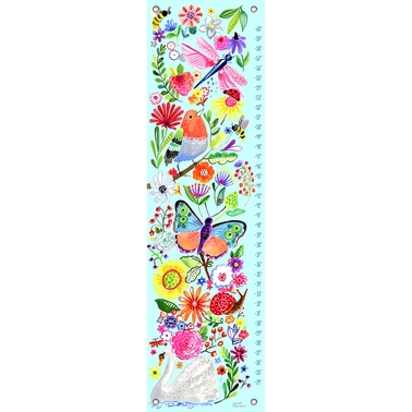GreenBox Art Growth Chart In The Garden 12 x 42