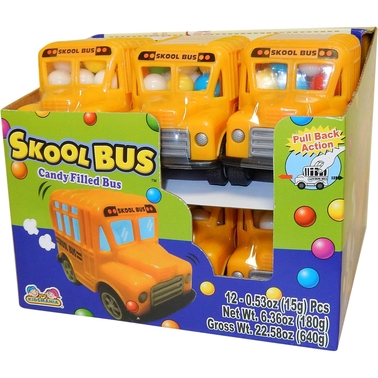 Kidsmania Toy School Bus with Candy 12 pk.