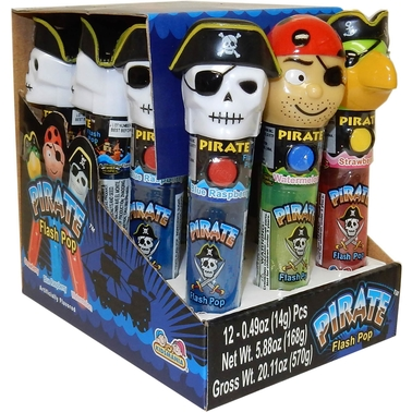 Kidsmania Pirate Flash Pop with Candy 12 pk.