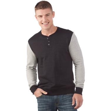 American Republic Button Henley Top