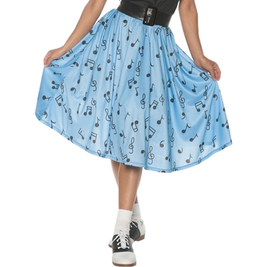 Underwraps Costumes Women's 50's Musical Note Skirt Costume