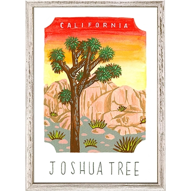 GreenBox Art Mini Framed Canvas National Parks, Joshua Tree 5 x 7