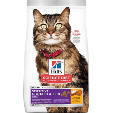 Science Diet Adult Sensitive Stomach and Skin Dry Cat Food 3.5 lb. Bag