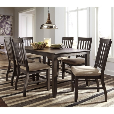 Signature Design by Ashley Dresbar Table with 6 Side Chairs