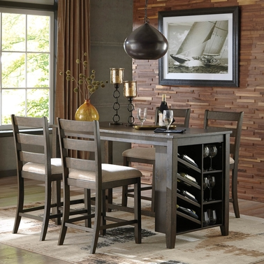 Rokane Counter Table Set with 4 Counter Stools