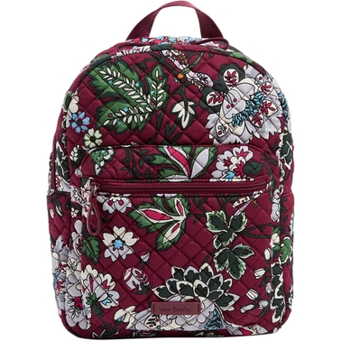 Vera Bradley Iconic Leighton Backpack Bordeaux Blooms