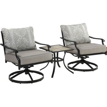 Courtyard Creations Aries 3 pc. Patio Chat Set