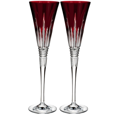 Waterford Lismore Diamond Toasting Crystal Flutes