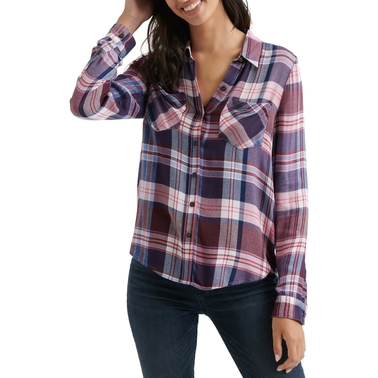 Lucky Brand Classic Pleat Back Plaid Shirt
