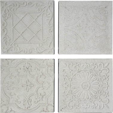 Simply Perfect 4 pc. Rustic Iron Tile Set
