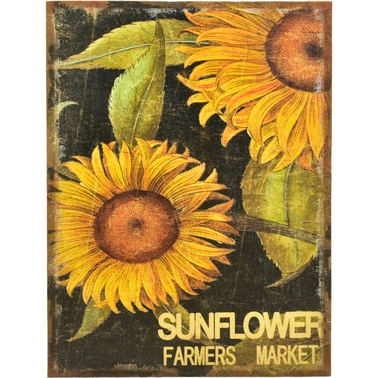 Simply Perfect 24 x 36 in. Sunflower Printed Burlap Wall Decor