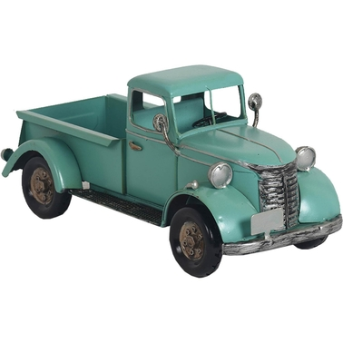 Simply Perfect Turquoise Iron Truck Statue