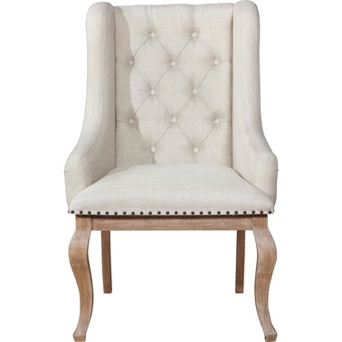 Scott Living Glen Cove Arm Chair with Trim in Antique Java 2PK
