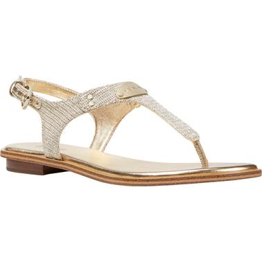 d2b8cd7e9c5 Michael Kors Women s Mk Plate Thong Sandals
