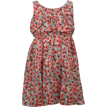 Bonnie Jean Little Girls Ditsy Dress with Elastic Waist