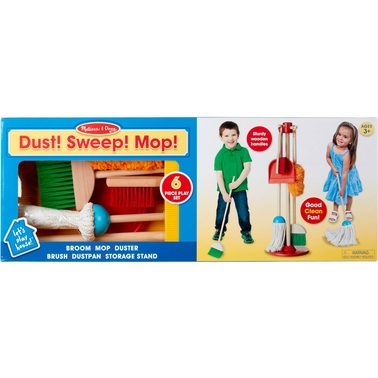 Melissa & Doug Let's Play House! Dust, Sweep and Mop, Play Set