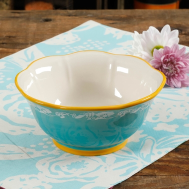 Pioneer Woman Spring Bouquet 6.75 in. Bowl