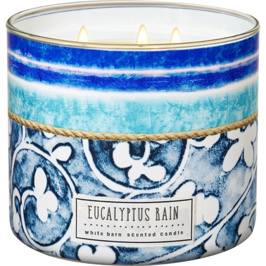 Bath & Body Works Eucalyptus Rain 3 Wick Candle