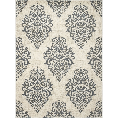 Concord Global New Casa Damask Ivory 5 x 7 ft. Area Rug