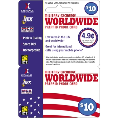 IDT Exchange Worldwide $10 Long Distance Card