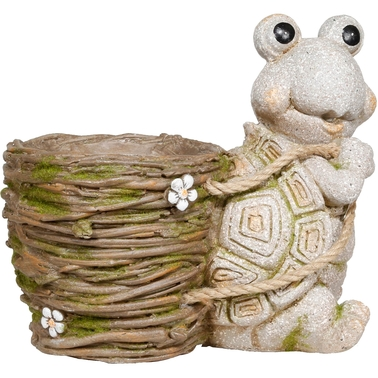 Stone Turtle Carrying Planter
