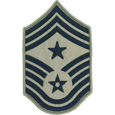Air Force Rank Command Chief Master Sergeant E-9 Subdued, Large with Star (ABU)