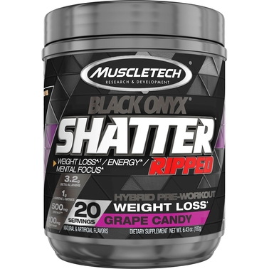 Muscletech Shatter SX-7 Black Onyx Ripped, 20 Servings