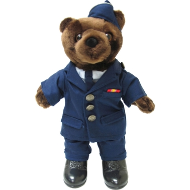 Bear Forces of America 11 in. Plush Bear in Air Force Officer SVC DR Uniform Male