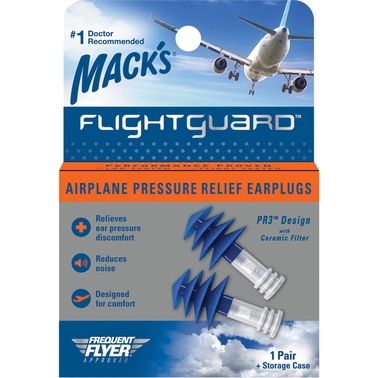 Macks FlightGuard Ear Plugs with Storage Case