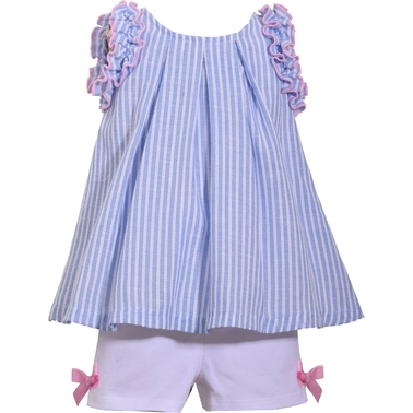 Bonnie Jean Infant Girls Striped Short Set