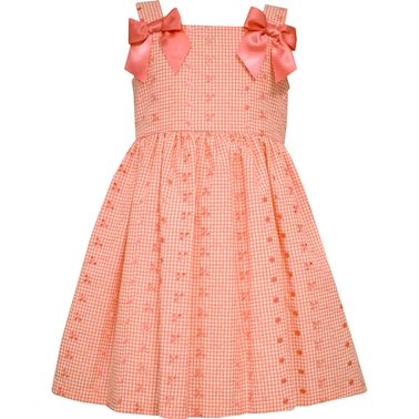 Bonnie Jean Girls Eyelet Bow Shoulder Dress
