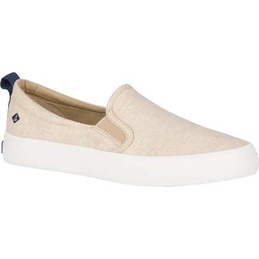 Sperry Women's Crest Twin Gore Sparkle Linen Sneakers