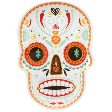 Gibson Home Day of the Dead 11 in. Skull Figural Tray