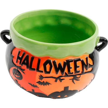 Gibson Home Halloween Soup Cauldron 6 in. Bowl