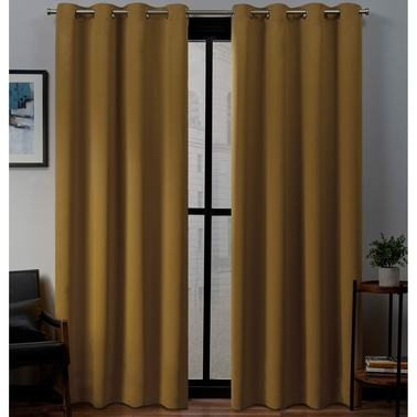 Exclusive Home Sateen Grommet Top Window Curtain Panels  52 x 84 in. 2 pk.