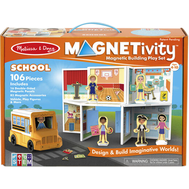 Magnetivity School Building Play Set