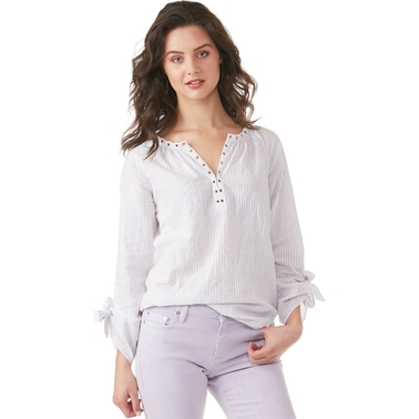 Michael Kors Grommet Neck Roll Blouse