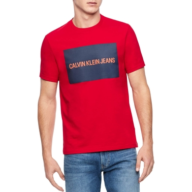 CK Jeans Ss Inst Logo Tee Seas Color