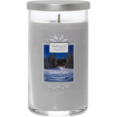 Yankee Candle Candlelit Cabin Medium Perfect Pillar Candle