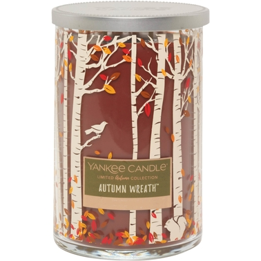 Yankee Candle Fall Harvest Autumn Wreath 2 Wick Tumbler Candle