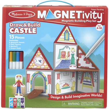 Magnetivity Draw and Build Castle Play Set