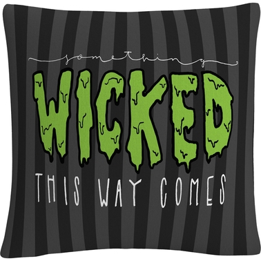 Trademark Fine Art Something Wicked This Way Comes Halloween Decorative Pillow